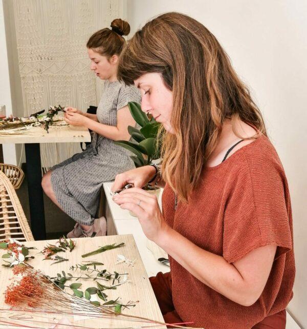 workshop droogbloemenkroon