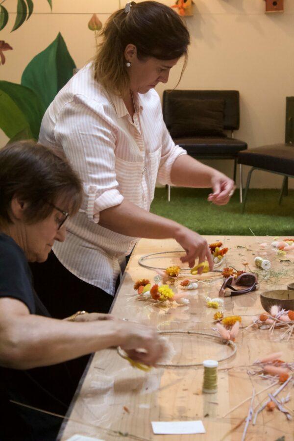 workshop flower hoops