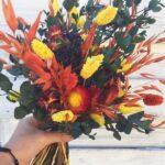 boeket met droogbloemen