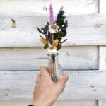 mini boeketje met droogbloemen