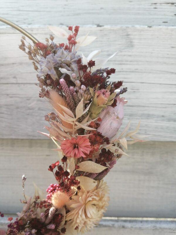 flowerhoop met droogbloemen